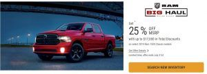 2019 Ram 1500 Classic Special Offers