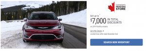 2019 Pacifica models Alberta Specials Offers