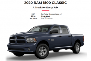 2020 Ram 1500 Classic Specials Offers Incentives Rocky Mountain Dodge Red Deer Alberta